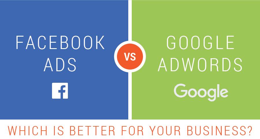 Facebook ads vs google adwords google adwords login rechnung